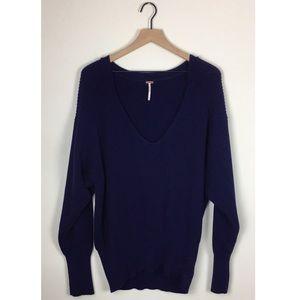 Free People Dolman Sleeve V-neck Sweater